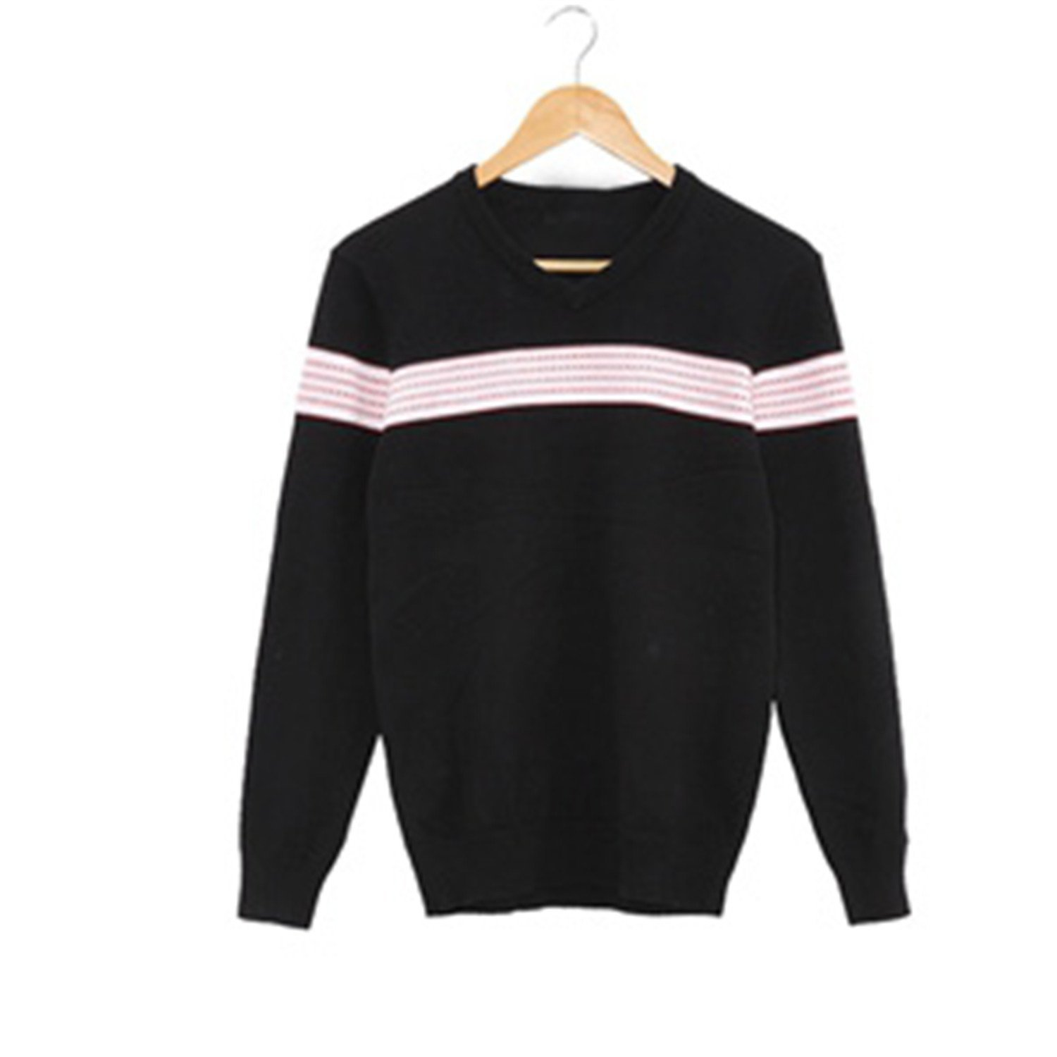 2db7b693a75 Get Quotations · B dressy Handsome and Silm Mens Sweaters Pullovers Striped  Soilders Link Preppy Style Fashion Men V