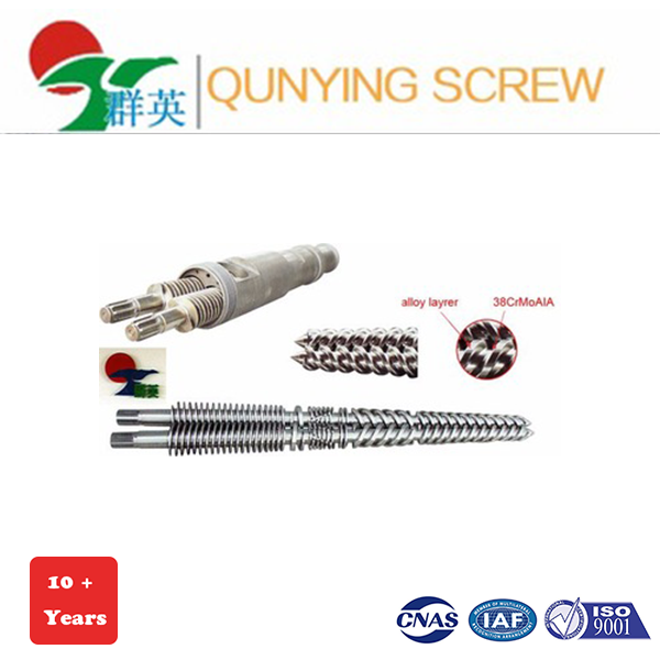Dual alloy layer conical twin screw barrel with good price