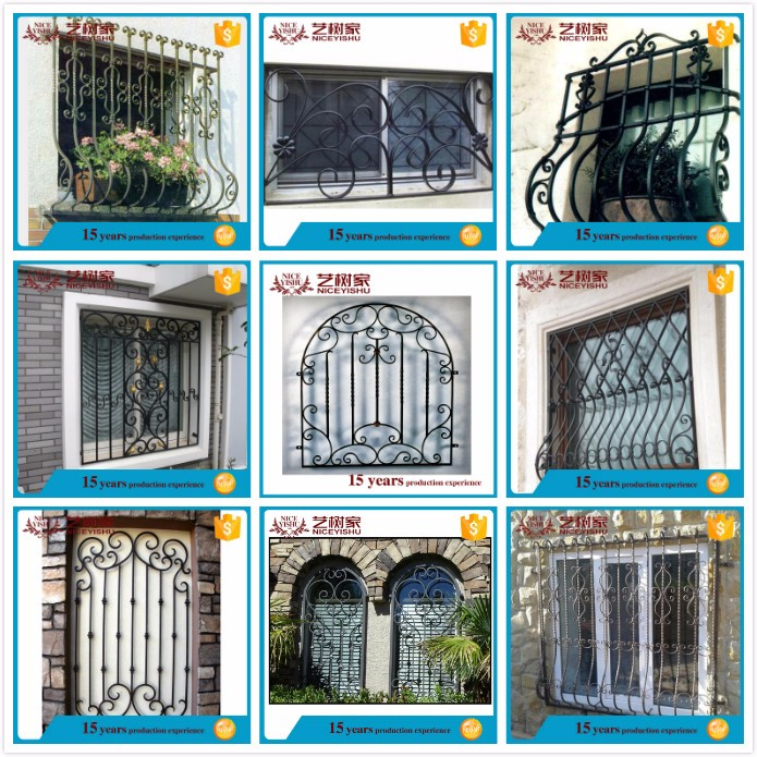 new 2016 simple modern cheap securtiy sliding window grill design/ alibaba.com latest decorative interior aluminum window grills