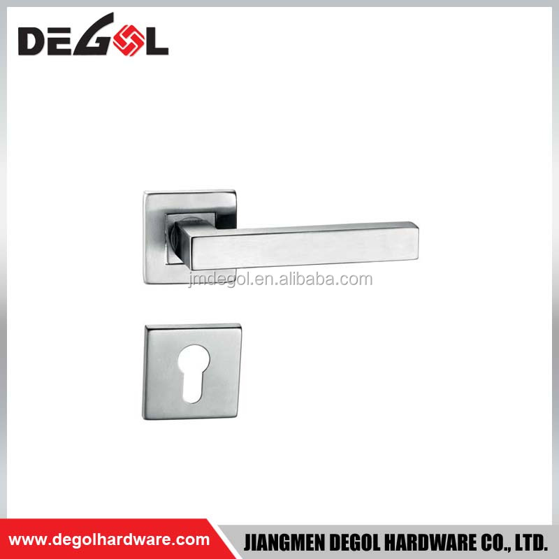 2017 china hot sale modern stainless steel square tube adjustable entrance door handle for outside door
