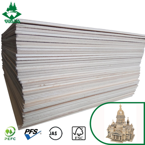 Wada 3.6-3.7mm basswood plywood jas plywood for laser cutting