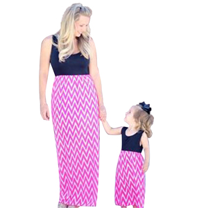 Boutique fashion new style maxi dress mommy and me maxi dress comfort mother and daughter long dress