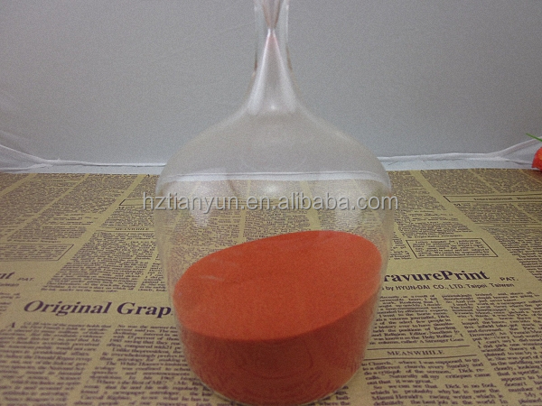 Red Sand Hourglass Bottle Shape