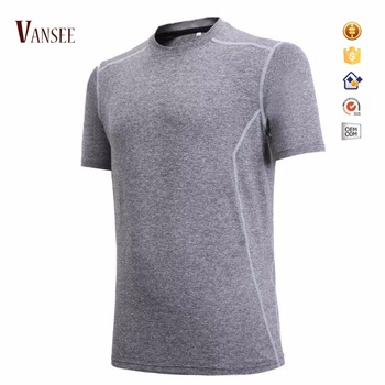 Gray Plain Cotton Polyester Blend Slim