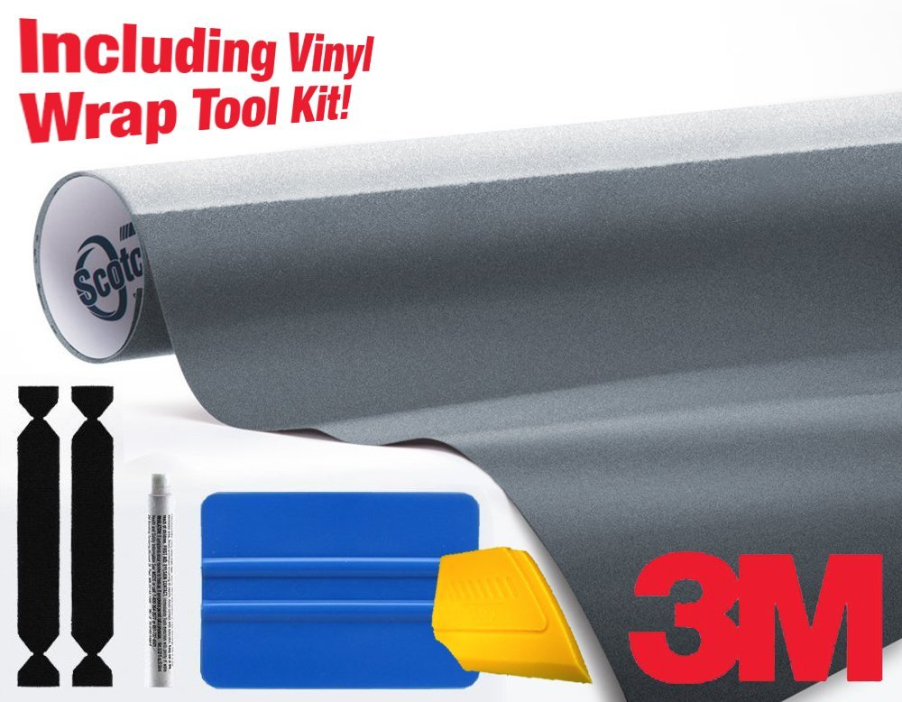 3M 1080 Gloss Anthracite Air-Release Vinyl Wrap Roll Including Toolkit (2ft x 5ft)