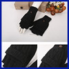 USA new arrival hand gloves knitted rabbit fur warm and soft mitten fingerless gloves for men women