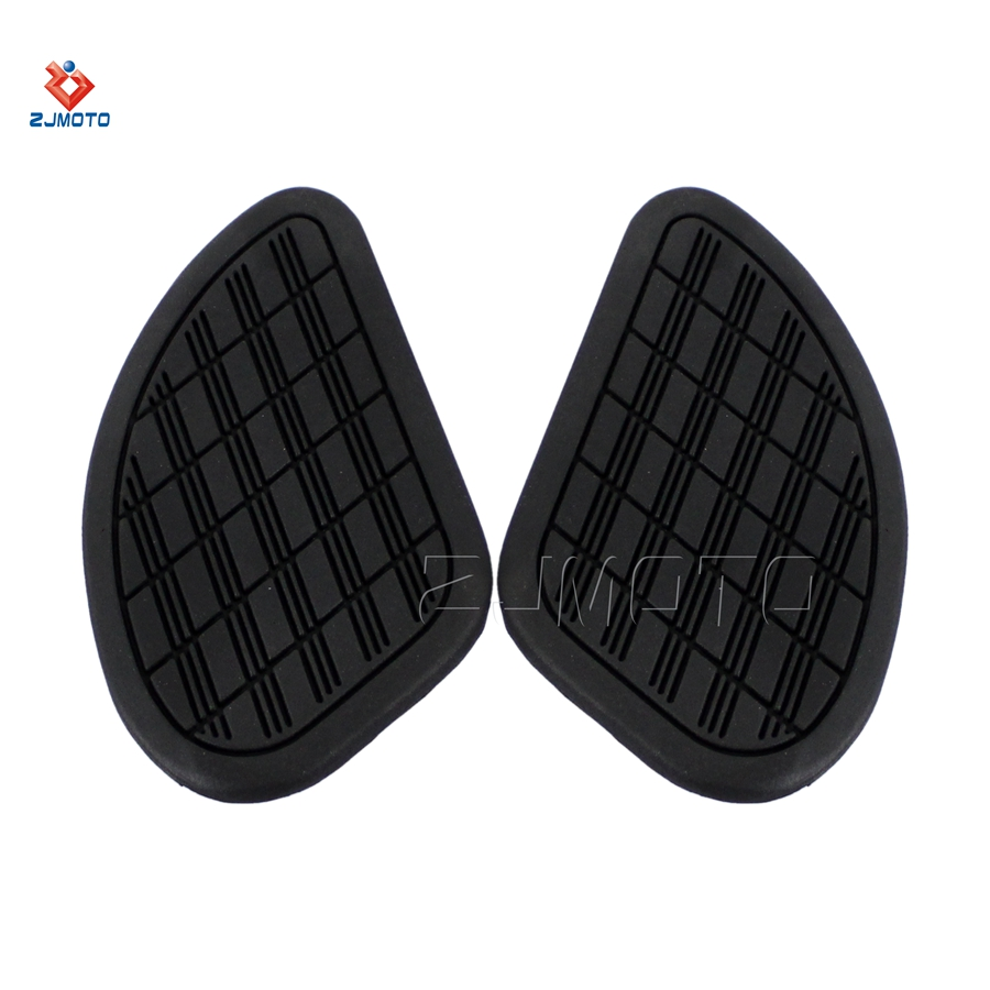 Motorcycle A Pair Vintage Classic Style Tall Gas Tank Knee Rubber Pads Side Panels
