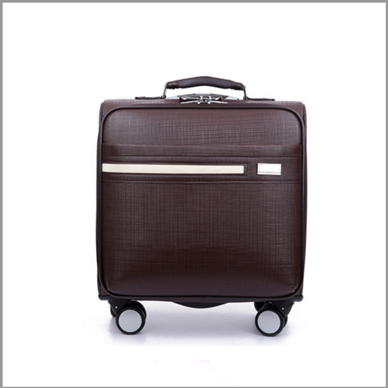 2015 new decent business style men's 18 inch carry on sky travel luggage