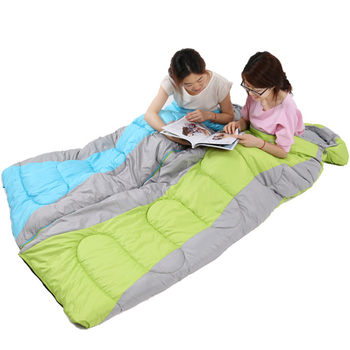 Whole Envelope Type Indoor Sleeping Bag Spring And Autumnthickening S Camping Lightweight