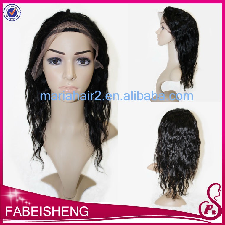 High quality Tangle-free Unprocessed 100% cheap virgin remy short hair full lace wigs