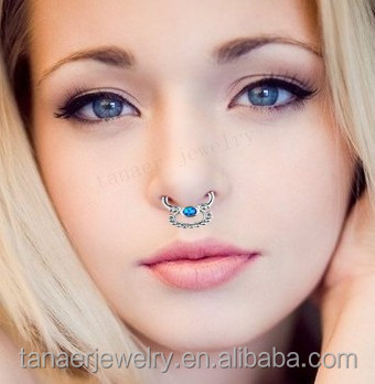 neue arrivel faux septum piercing schmuck gef lschte septum piercing faux septum piercing f r. Black Bedroom Furniture Sets. Home Design Ideas