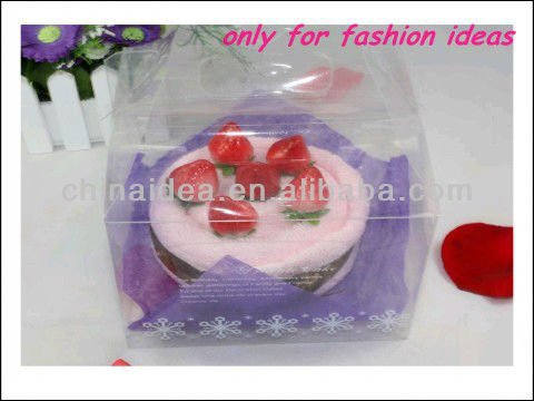Yiwu Cheap Promotional Birthday Gift Strawberry Cake Towel