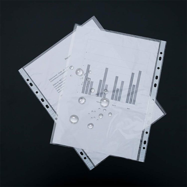 Factory SALE Archival Safe Glass Clear A4 Punched Pockets for Filing and Protecting