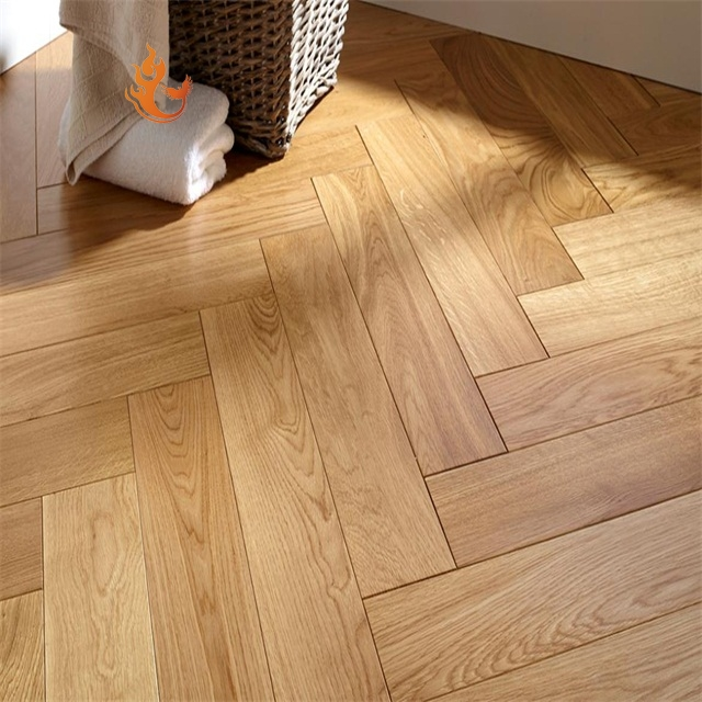 AB Grade European Oak Hardwood Engineered Flooring Herringbone Wood Parquet Flooring for Sale
