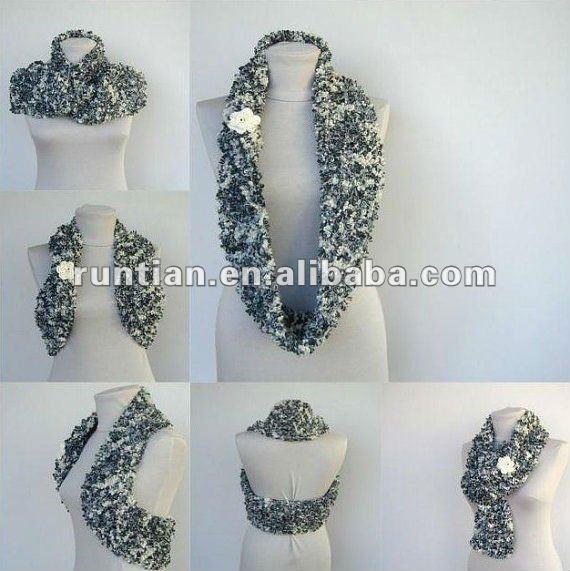 Encuentre el mejor fabricante de bufandas crochet 2012 y bufandas ...