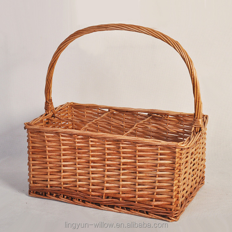 factory supply cheap wicker bottle holder basket