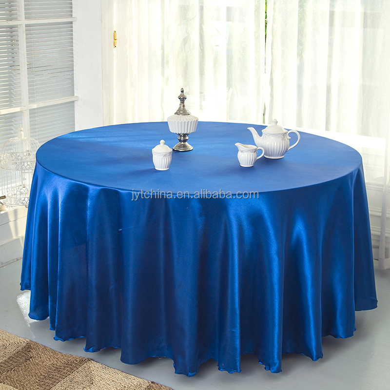 hot sale white and navy blue table cloth for hotel/home/wedding/Christmas