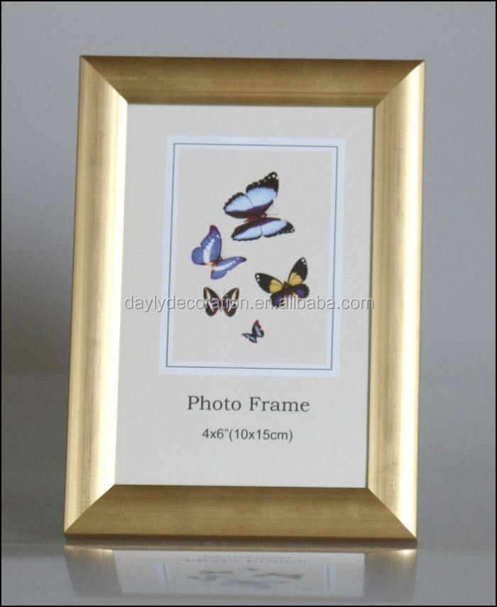 Shinning Gold Bright Color Picture Frames Size 10x15 Cm Pvc Photo ...
