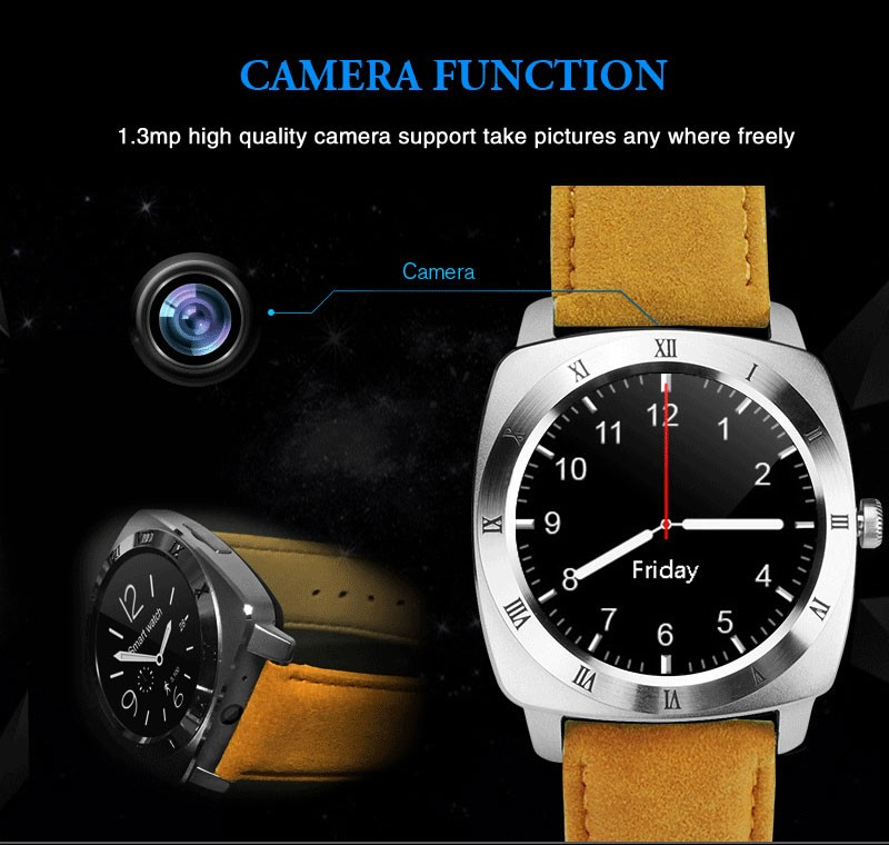 Hottest 2G GSM Bluetooth full IPS touch screen X3 model smartwatch
