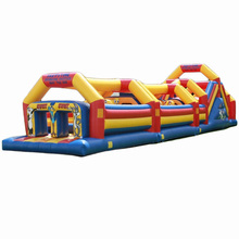 high quality Wacky Head to Head eliminator inflatable obstacle course/ obstacle run challenge race for kids