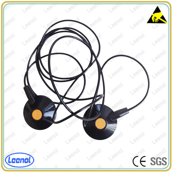 Safety Grounding Cables : Safety alligator clip esd cleanroom grounding cord ground