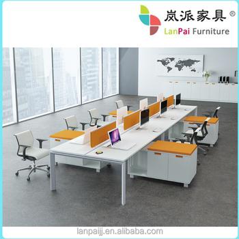 Office Furniture 6 People Modern Open Workstation Lb 14