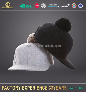 customized colorful girl's wool felt baseball cap in winter for retail