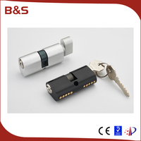60mm oval keyhole security lock cylinder, brazil lock cylinder with OEM