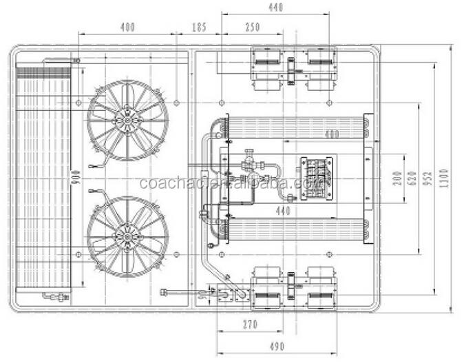 12v 24v roof mounted sprinter mini van air conditioner for