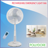 18inch solar oscillating rechargeable fan W/ LED light