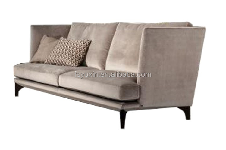 Factory Direct Supply wooden two 2 seats fabric sofa couch