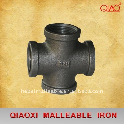 2015 new china malleable cast iron BS standard 4 way 90 degree pipe cross