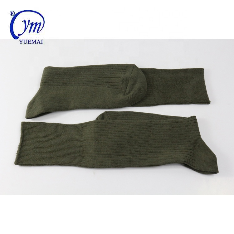 Custom 100%cotton army green anti-bacterial protection military army socks
