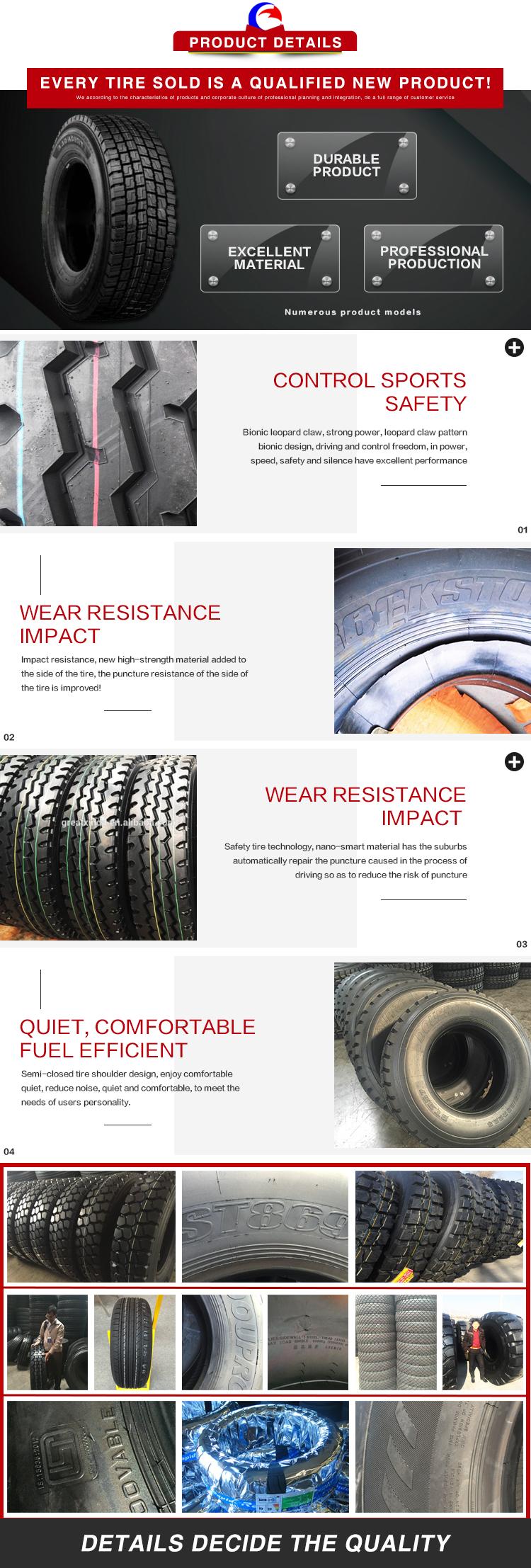 Merk Nieuwe 1000.20 Truck Tyre Factory Directe Verkoop Truck Band Tyer 1100R20 Aelos Made In China