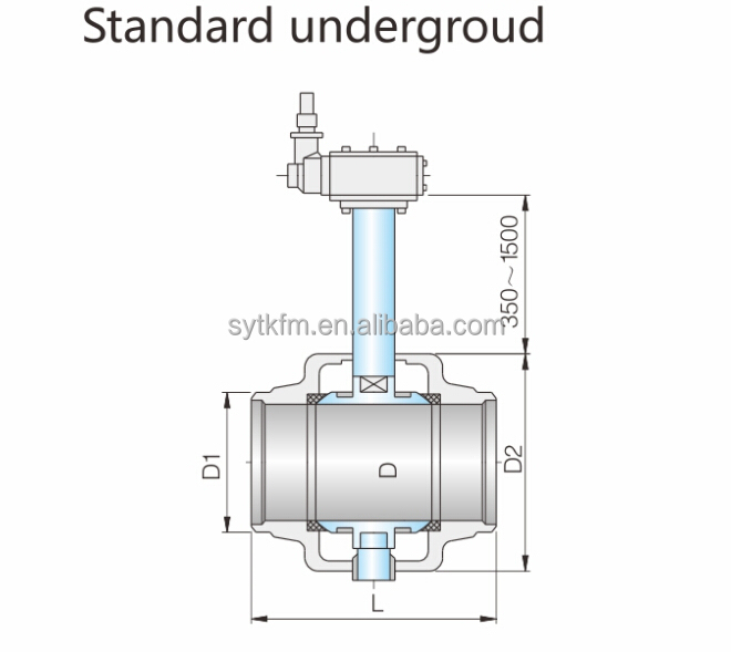 Fully Welded Underground Direct-buried Mororized Ball Valve ...