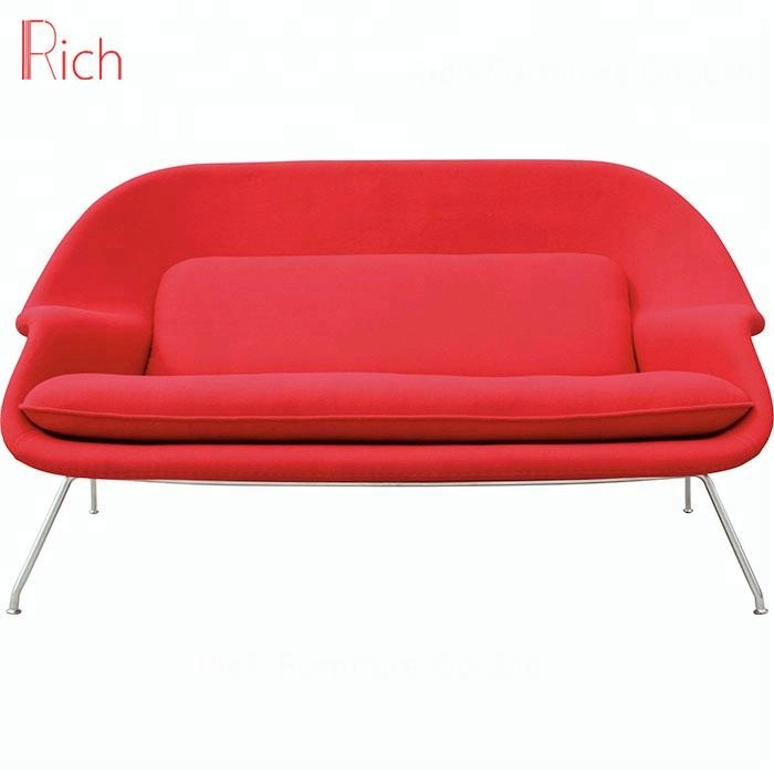 Furniture Fabric Two Seater Red Fibergl Womb Sofa Chair For Indoor Seat Product On Alibaba