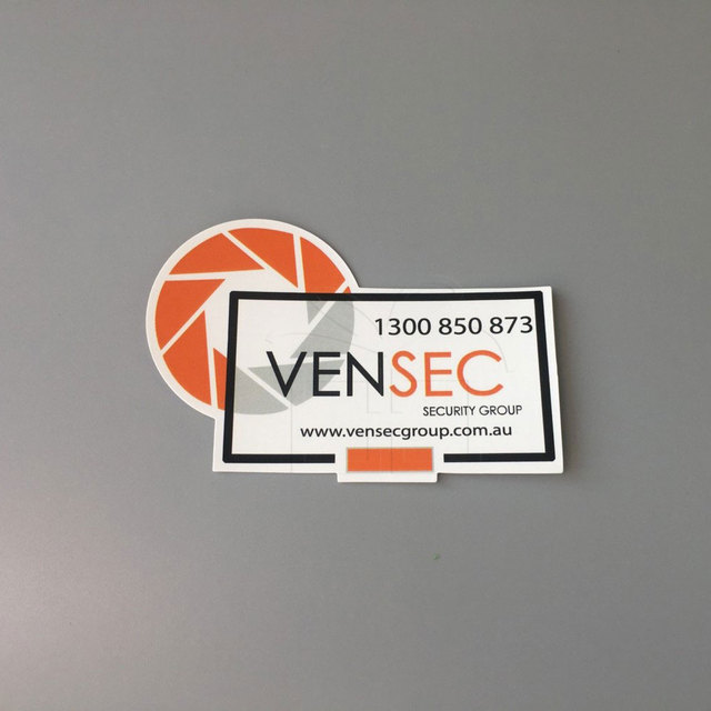 Die cut business card advertising stickers