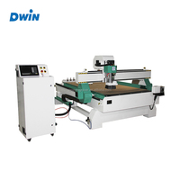 3 Pneumatic tool Wood furniture cabinet door making machine / woodworking milling cutting grooving machine / ATC cnc router