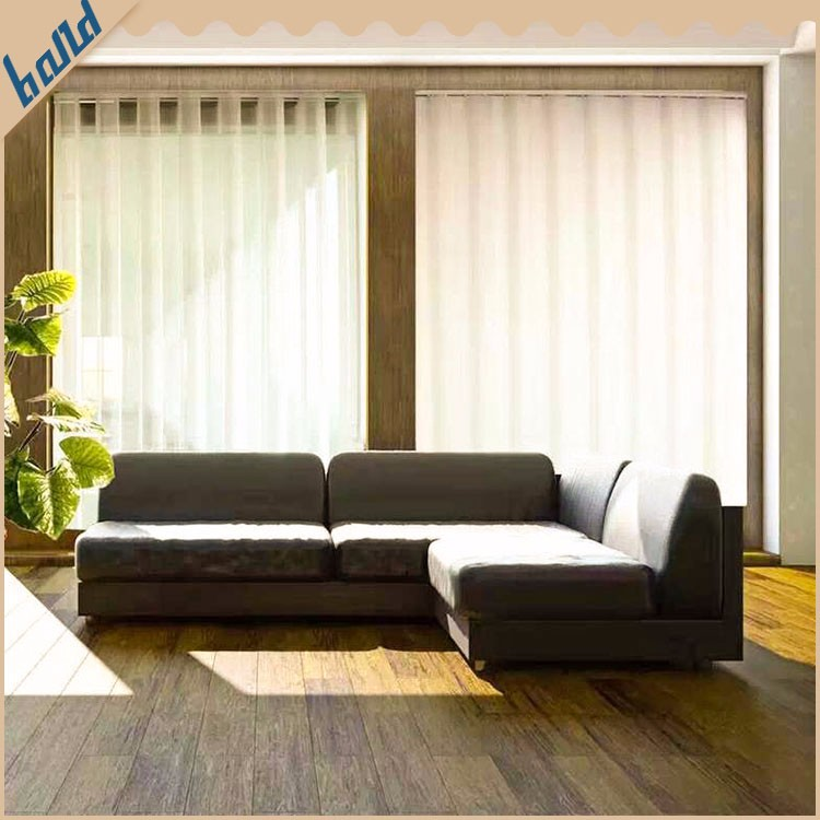 Waterproof Double Layers Polyester 127mm Vertical Blind Fabrics Factory