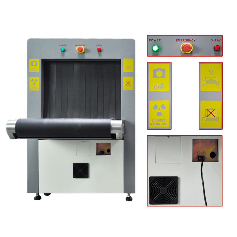Parcel airport x-ray baggage scanner machine at 6550