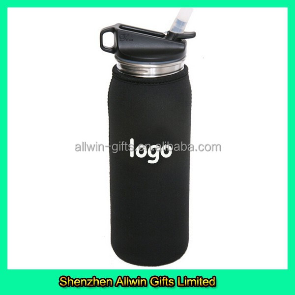 Customized Neoprene Black Bottle Insulator Sleeve