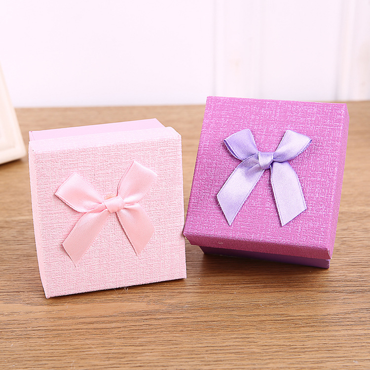 Wholesale custom logo printing ring jewelry gift packing box for necklace