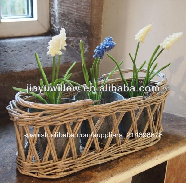 de mimbre decoracin de hogar cestas de la planta