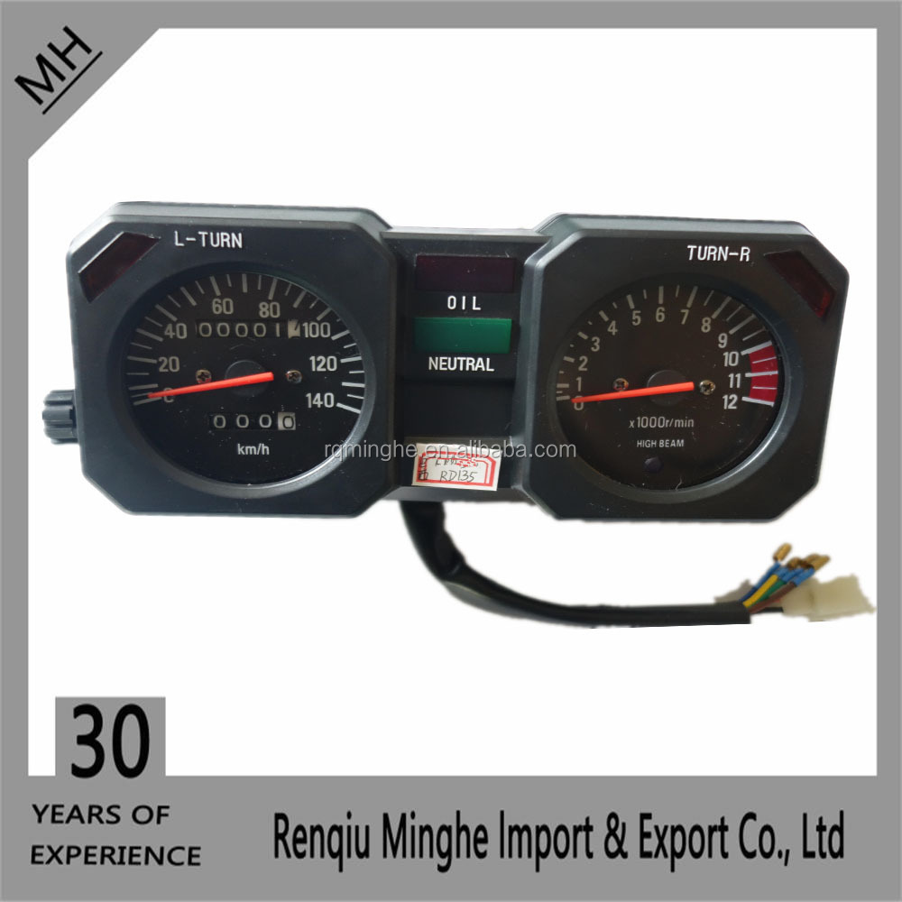 Motorcycle parts for YAMAHA RD 135 speedometer China supplier