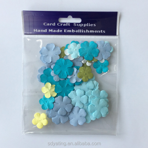 Manufacturer wholesale scrapbooking embellishment handmade custom paper flower petals
