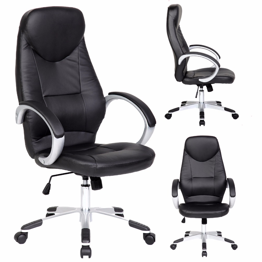 high back executive pu leather swivel office chair, high back