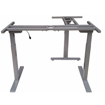 Stand Up Motorized Auto Table Frame With L Shape Legs Reception Desk ...