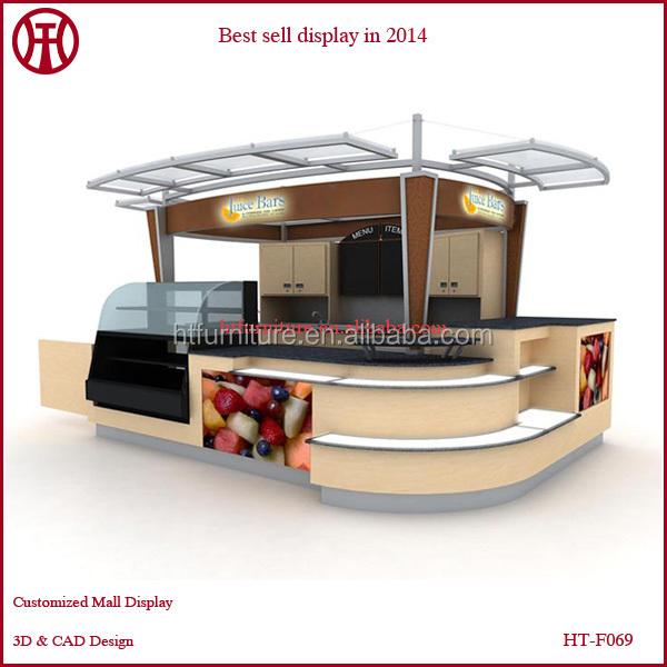 Customize mall juice bar counter man made stone juice bar for Juice bar floor plan