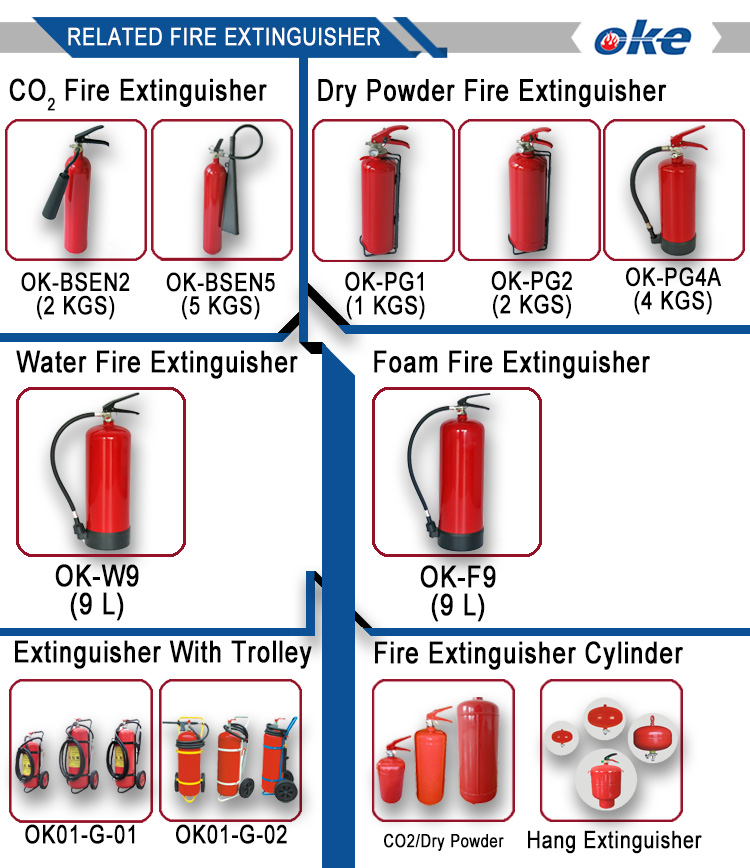 Okefire Empty Stainless Steel CO2 Fire Extinguisher Cylinder For Sale