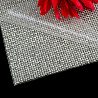 24cmX40cm 2mm white crystals rhinestone hot fix sheet, hot fix rhinestone mesh